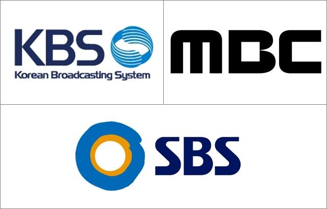 KBS、MBC、SBS LOGO