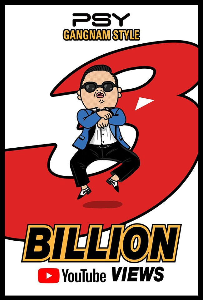 PSY《江南 Style》瀏覽數破30億海報