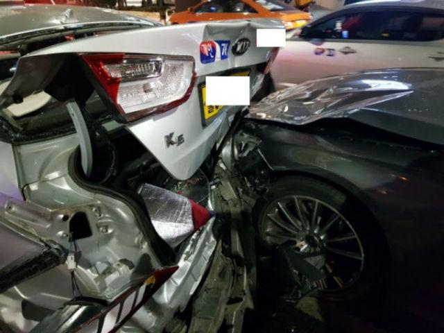 少女时代队长太妍首尔江南区发生追撞车祸