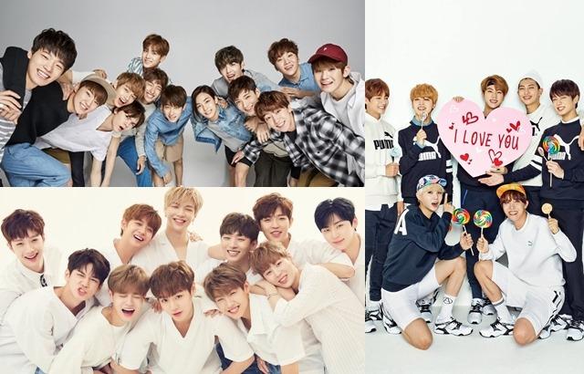 SEVENTEEN、Wanna One、BTS