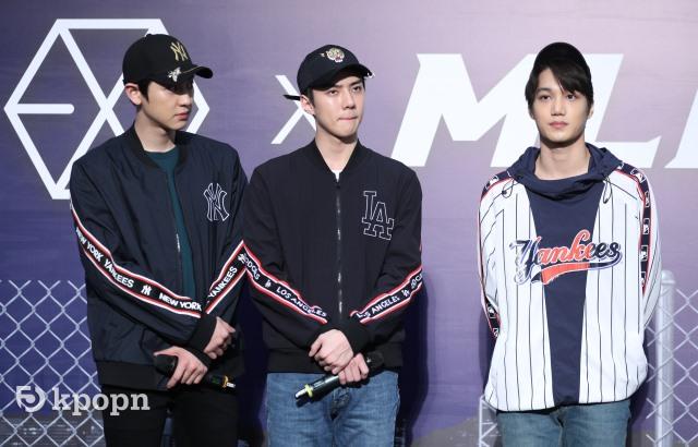 Chan Yeol、KAI、世勳 香港 MLB 活動