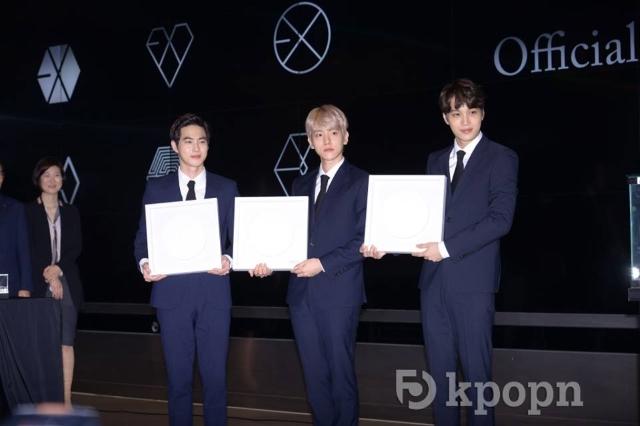 Su Ho、伯賢、KAI 《EXO 官方紀念獎章發售紀念儀式》