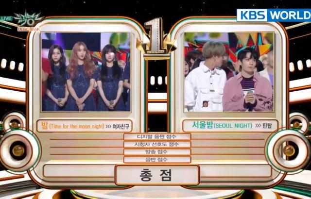 20180518 KBS《音乐银行》一位:GFRIEND vs. TEEN TOP