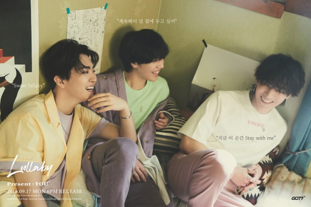 GOT7《Lullaby》分組概念照:榮宰、有謙、JB