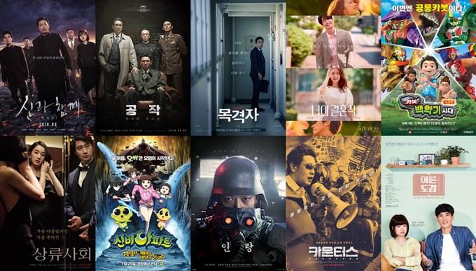 2018.08 电影十强:河正宇、朱智勋、金香起《与神同行2》夺冠