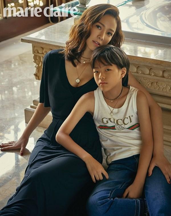 孫泰英與兒子《marie claire》全家福