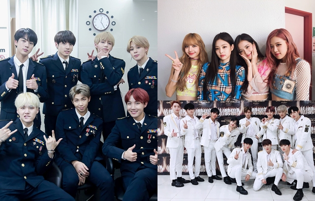 BTS、BLACKPINK、Wanna One