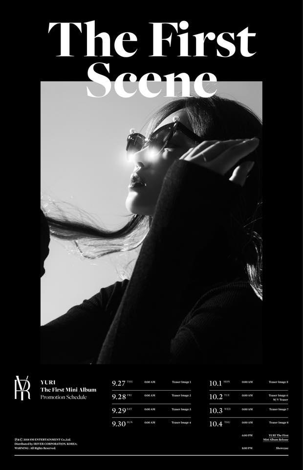 Yuri 首張迷你專輯《The First Scene》行程表