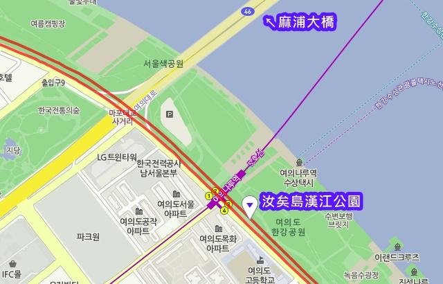 汝矣島漢江公園交通資訊
