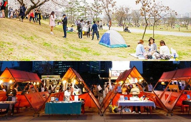 汝矣島漢江公園:野餐、夜市