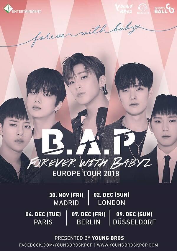 B.A.P 歐洲巡演海報