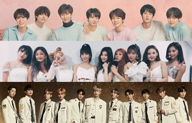 縮圖 / BTS 防彈少年團、TWICE、Wanna One