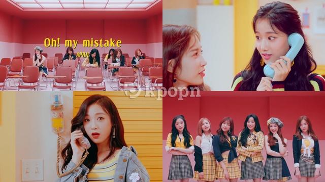 April《Oh! my mistake》MV 預告截圖