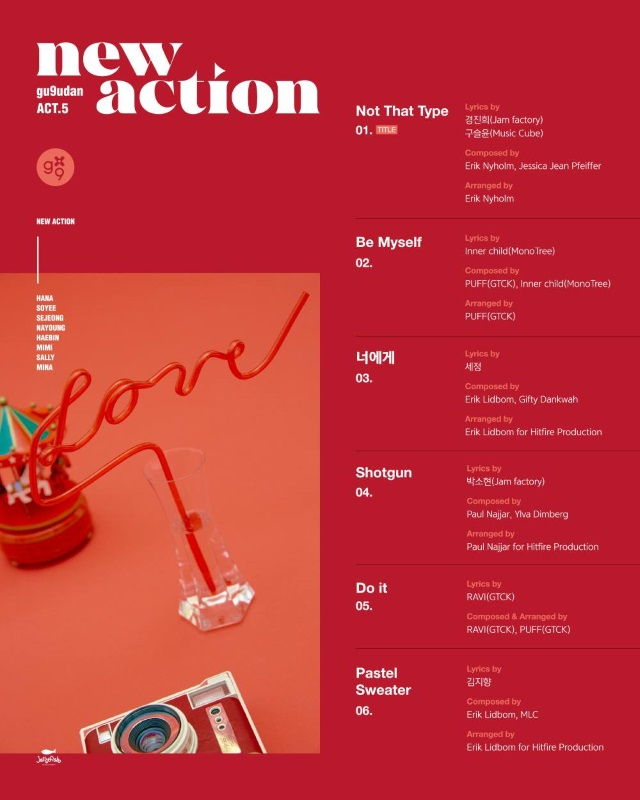 gugudan《Act.5 New Action》曲目表