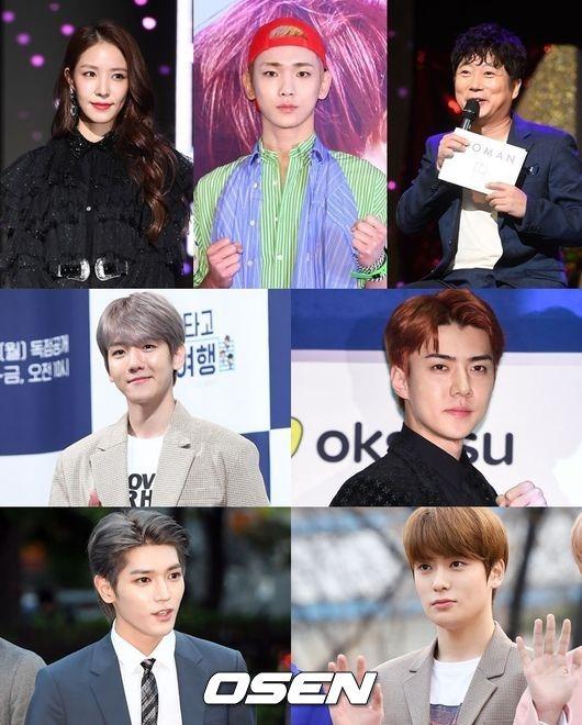 BoA、Key、伯賢、世勳、泰容、在玹、李壽根