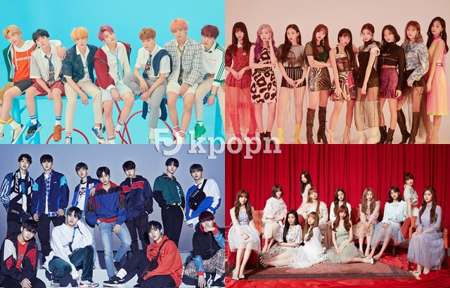 BTS、TWICE、Wanna One、IZ*ONE (縮圖)