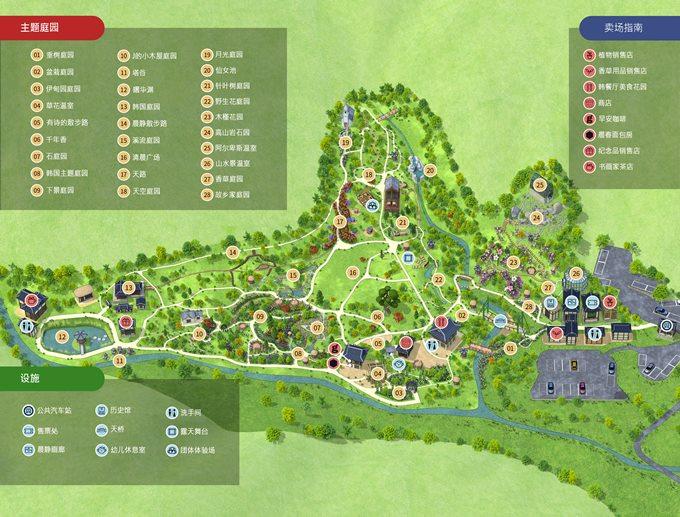 晨靜樹木園:園區地圖