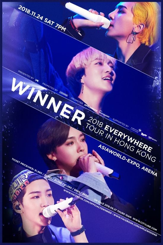 WINNER《EVERYWHERE》香港場海報