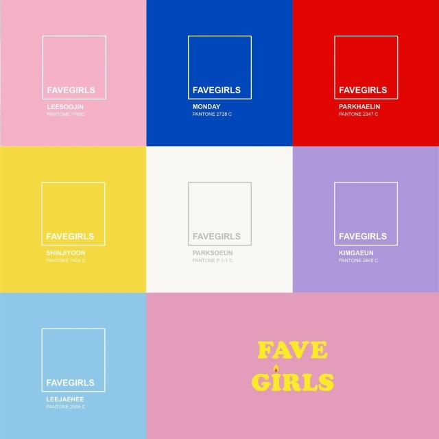 FAVE GIRLS@成員代表色
