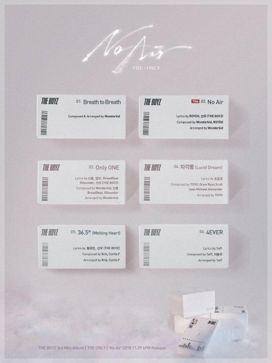 THE BOYZ 迷你三輯曲目表
