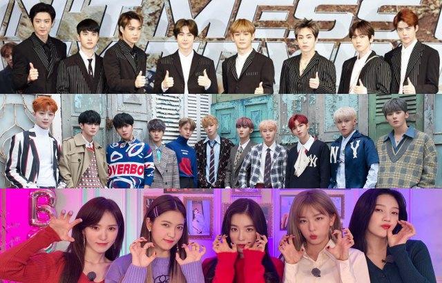 縮圖 / EXO、Red Velvet、Wanna One