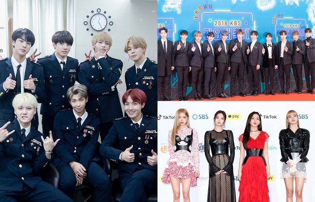 BTS、Wanna One、BLACKPINK