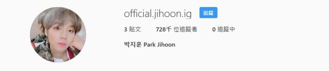 朴志訓 Instagram 追蹤人數
