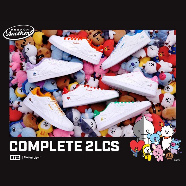 BT21 x Reebok 聯名鞋@COMPLETE 2LCS 系列