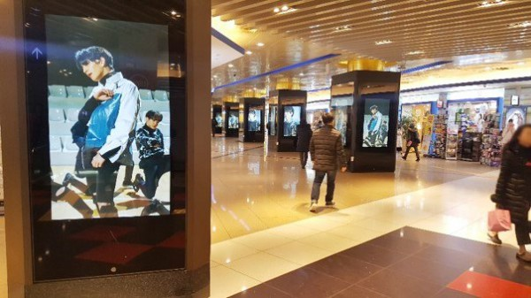 SEVENTEEN@江南站與新盆塘線連結通道LED廣告