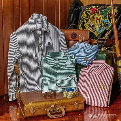 SPAO x 哈利波特:電繡條紋襯衫