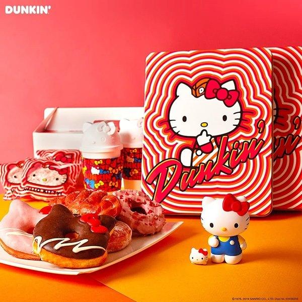 DUNKIN DUNUTS x 凱蒂貓 (Hello kitty)