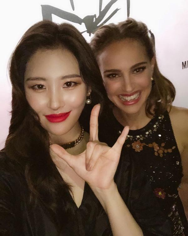 善美上海出席精品品牌活动,与娜塔莉波曼合照!