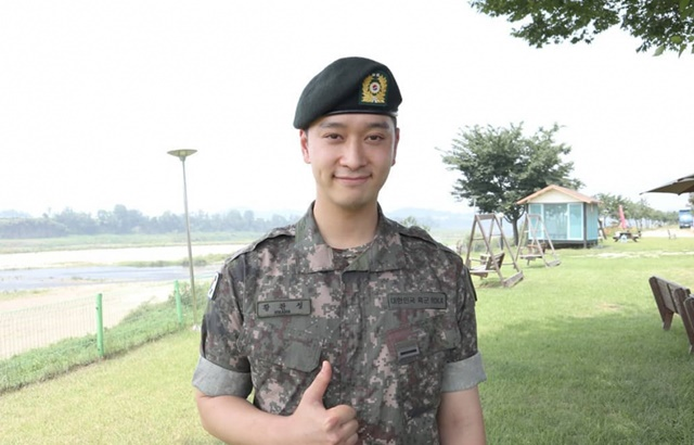 2PM 灿盛5日退伍完成陆军服役,期满退伍!