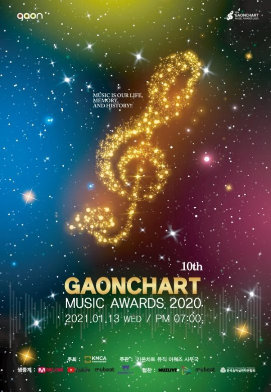 第10屆 Gaon Chart Music Awards 海報