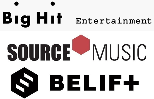 縮圖 / Big Hit Ent.、Source Music、BELIFT logo