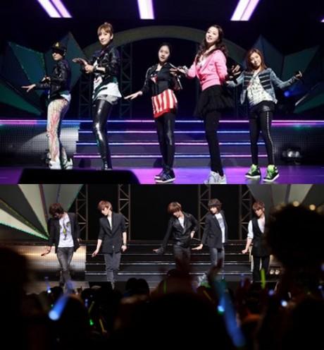 SHINee 與 fx 在日本的表演