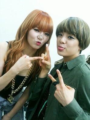 Amber and HyunA