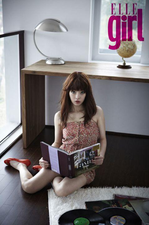 瑞雨的ELLE Girl杂誌照
