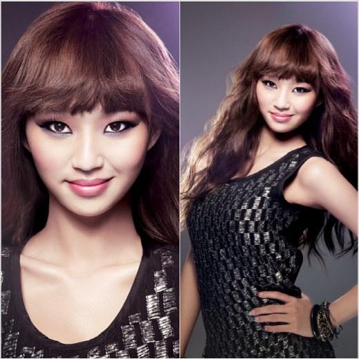 孝琳担任化妆品模特儿