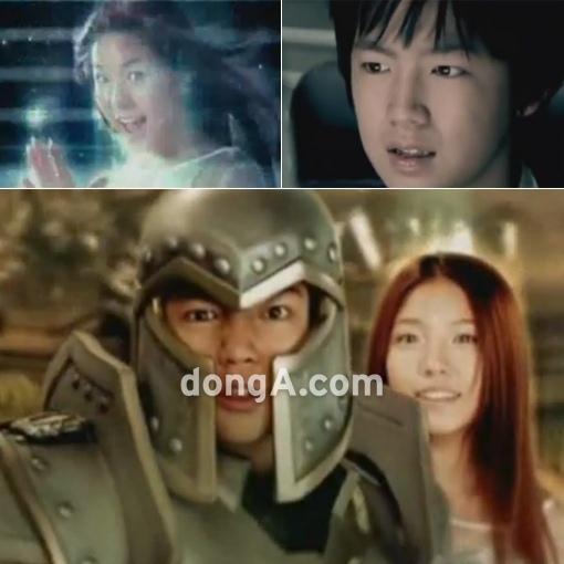 张根硕与宝儿十年前的广告