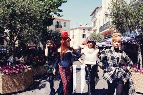 2NE1 《W》杂誌拍摄花絮