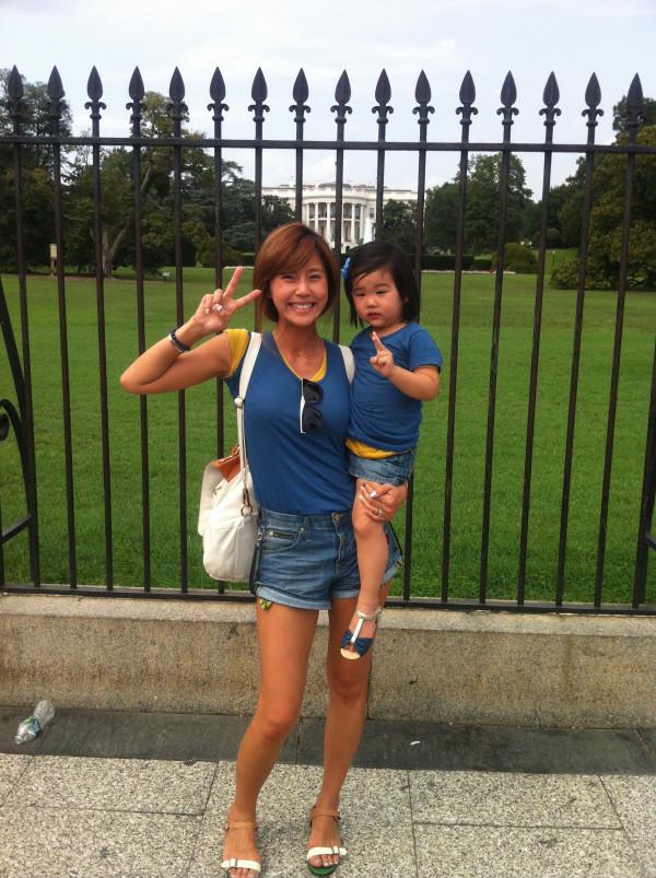 朱英旭一家到了白宫前