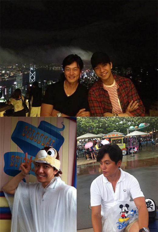 在香港的李昇基和李瑞镇