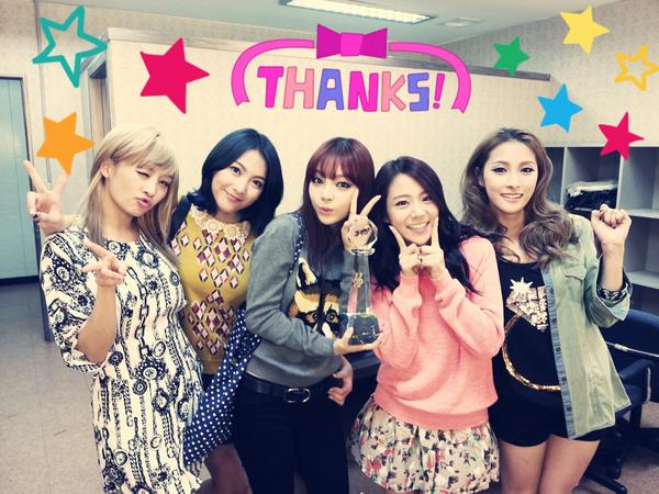 Kara 庆祝Music Bank一位