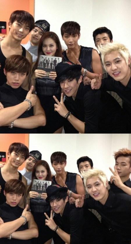 2PM、MBLAQ 与 Ivy 合照