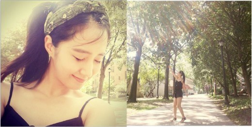 Yuri 开心享受日光浴