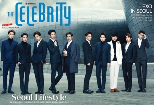 EXO 登 TheCelebrity 封面