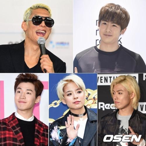 朴俊瑩、Nichkhun、Henry、Amber、Kang Nam