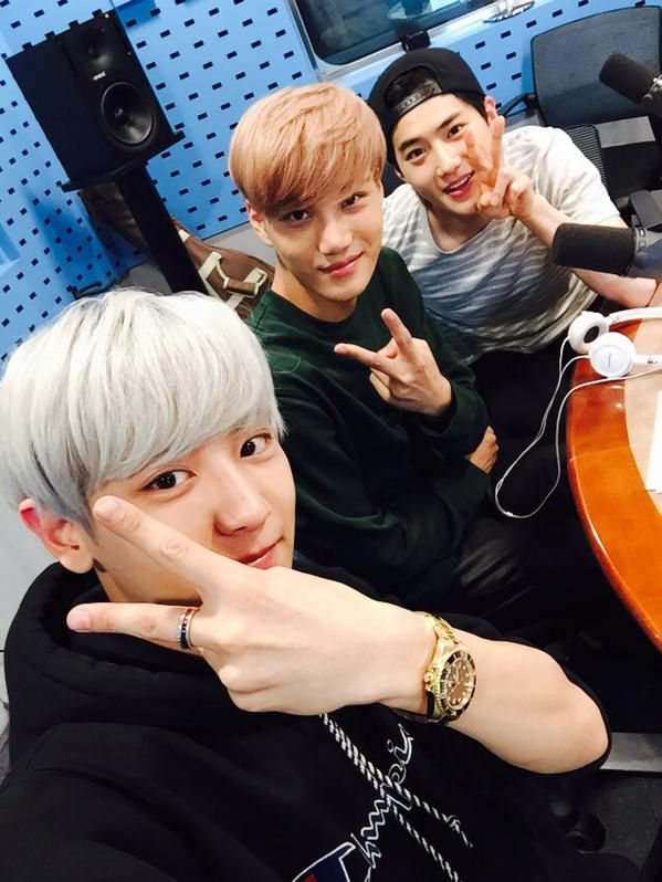 KAI、Chan Yeol、Su Ho