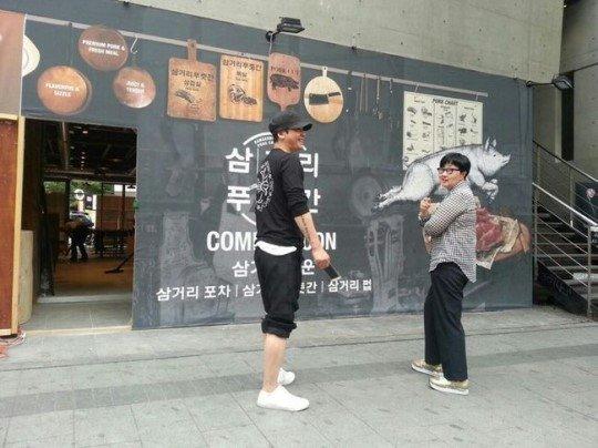 杨贤硕弘大开新餐厅